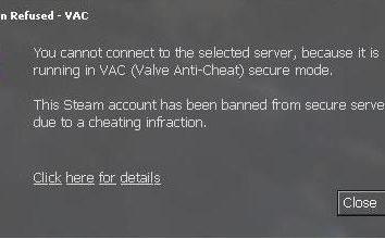 """Mensagem: """"Seu computador está bloqueando o sistema VAC."""" Como eu deveria?"""