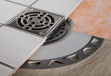 prysznic drabina w podłodze pod płytkami: co wybrać?
