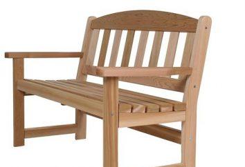 Ławki ogrodowe wykonane z drewna ze swoimi rąk: rysunków. Ławki z rękami z drewna i metalu