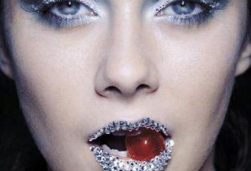 Maquillage avec des paillettes: comment appliquer et ne semble pas vulgaire