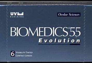 Kontaktlinsen Biomedics 55 Evolution. Spezifikationen, Gebrauchsanweisungen, real