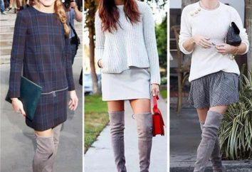 bottes gris dans la garde-robe: quoi porter