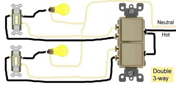 Como Ligar Um Interruptor Duplo Duas L U00e2mpadas  Interruptor
