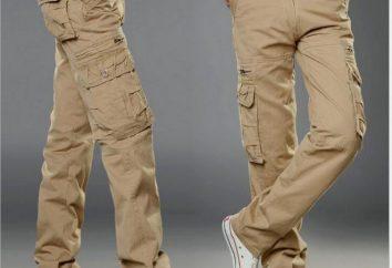Una buena alternativa: pantalones de color caqui desplazan los pantalones vaqueros!