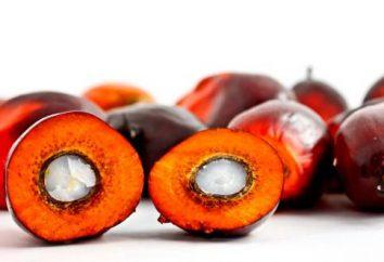 L'utilisation de l'huile de palme avec des avantages pour la santé