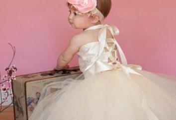 Três opções simples como costurar uma saia cheia para uma pequena princesa