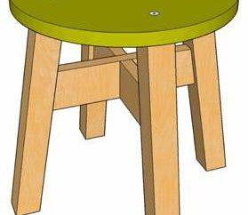 Sgabello in legno con le loro mani: passo dopo passo le istruzioni, i disegni e le recensioni