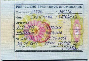 Un permiso temporal de residencia en la Federación de Rusia: los documentos de ejemplo, fotos