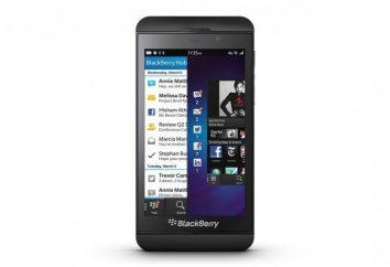 Smartphone BlackBerry Z10: specyfikacje, opis, opinie