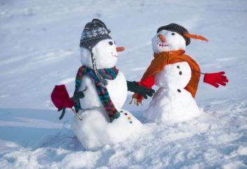 divertimento do inverno para crianças e adultos