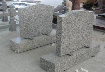 Ce qui rend les monuments? Matériaux pour la fabrication de pierres tombales