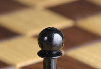 L'allineamento dei pezzi degli scacchi sul bordo e regole di gioco
