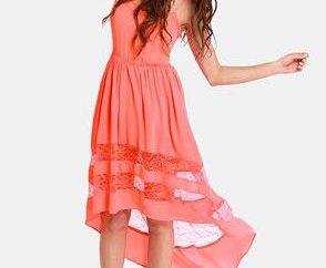 couleur corail robe sophistiquée et originale