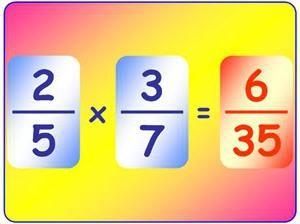 Fracción. Multiplicación de fracciones ordinarias, decimal, mezclado