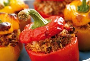 Cottura di peperoni ripieni in un multivarch