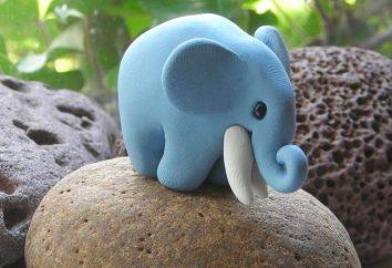 Elefant aus Knetmasse. Wie zu formen?
