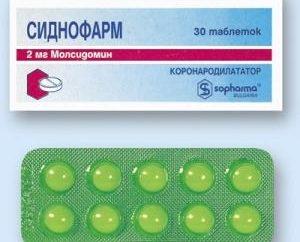 Le médicament « Sydnopharm » – mode d'emploi. Comprimés « Sydnopharm »: des analogues et des commentaires