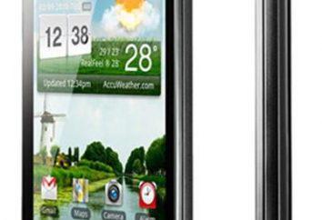 Vista general Optimus LG P970 negro. Características y precio