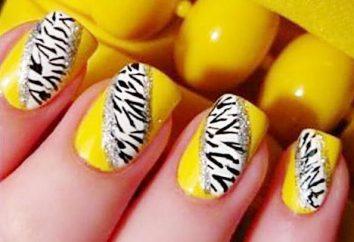 manicure luminoso su unghie corte (foto)