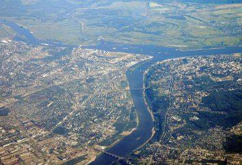 Niżny Nowogród, Wołgę, rzekę Okę i inne. Opis i znaczenie tętnic wodnych