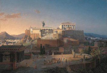 Atenas: localização geográfica, especialmente história de desenvolvimento