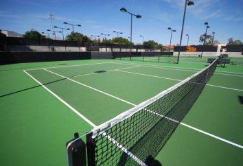 Court de tennis: paramètres. La construction de courts de tennis