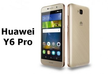 Huawei smartphone Y6 Pro: commentaires, spécifications