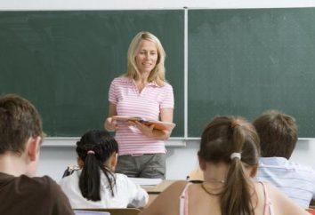 Le rôle de l'enseignant dans la vie humaine. professeur préféré