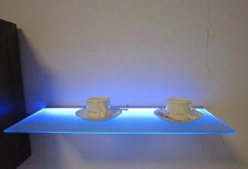 Las luces delanteras de vidrio. Perfil de aluminio para iluminación frontal