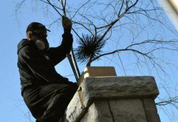 Czyszczenie komina z rękami. Środki do czyszczenia komina