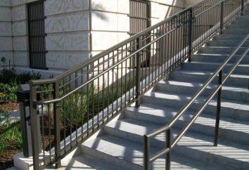Außentreppe: Design, Installation. Straße Treppe für Ferienhäuser und Wohnungen