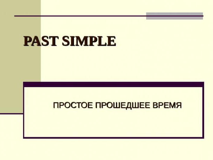 Ciò Che è Semplice Passato Passato Il Tempo Semplice Simple Paste