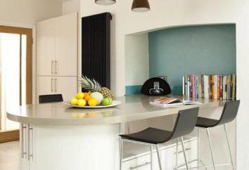 balcão de bar: fotos de tamanho. Dimensões padrão do bar na cozinha