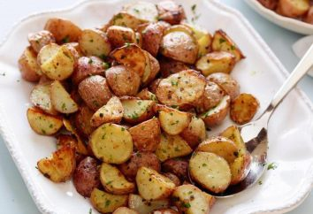 patatas cocidas al horno en sus pieles en el horno: recetas de cocina