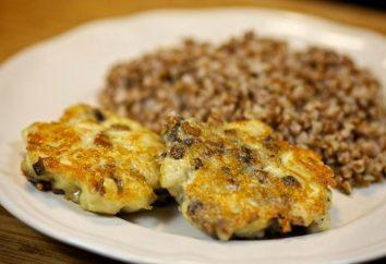 Come cucinare deliziosi, ma allo stesso tempo, cotolette di pollo alimentari con zucchine