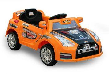 voitures d'enfants modernes sur les batteries
