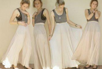 Jak uszyć spódnicę na podłodze z rękami