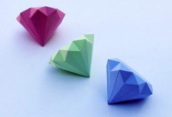 Comment faire un diamant de papier et comment appliquer à l'intérieur