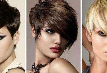 Asymmetrische Frisuren für kurze Haare: Optionen Frisuren