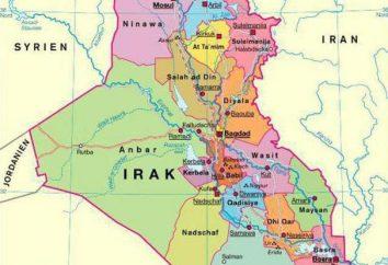 Opis, lokalizacja, rozwój gospodarczy, ludność Iraku. Poznanie stanu Bliskiego Wschodu