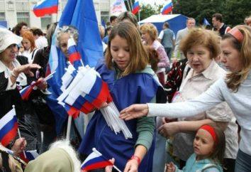 colorido do feriado – Dia da bandeira russa