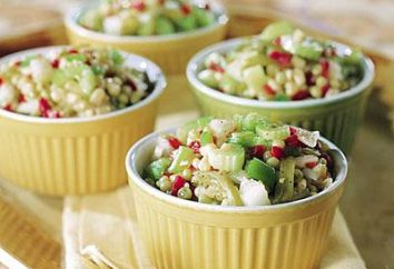 insalata di luce per la tabella di festa: diverse ricette