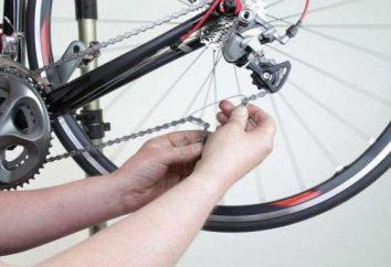 Jak skrócić łańcuch na rowerze: procedurę wyposażony