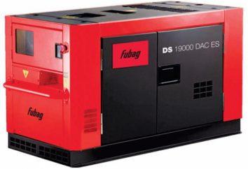 La empresa de productos Fubag: generadores. Los comentarios, guían