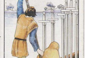 6 Swords Tarot: wartość karty w przedniej i odwrotnej pozycji