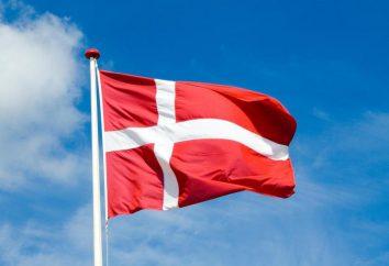 bandeira dinamarquesa: história da aparência e visual moderno