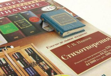 """Collezione """"capolavori della letteratura mondiale in miniatura"""": la descrizione, caratteristiche e recensioni"""
