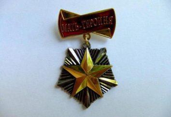 """Medaglie dell'URSS: """"Medaglia della maternità"""", """"madre eroica"""", """"materna Glory"""""""