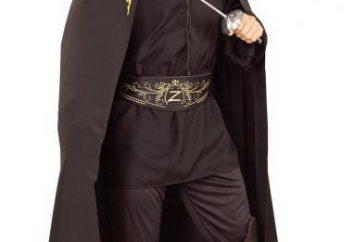 Zorro de disfraces – equipo de lujo para un niño con sus manos