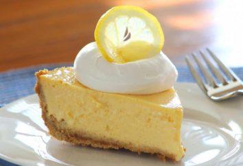 Limone torta di riempimento. La maggior parte deliziosa torta al limone